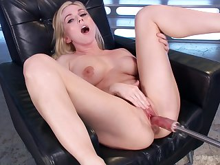 Solo sweetie Christie Stevens masturbates with toys while moaning