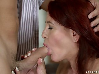 Dirty minded mature redhead Red Mary deserves some passionate fuck