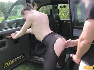 Star Del Ray gets fucked by horny taxi driver John