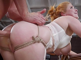 Big ass woman with big tits and nice curves, rough bondage