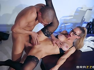 Nicole Aniston rides big cock of lucky guy Xander Corvus