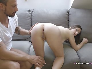 Amateur girlfriend Gabriella Lati fucked in her ass for the first time
