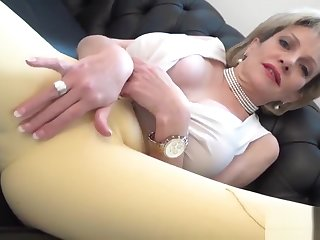 Unfaithful english milf lady sonia showcases her monster knockers