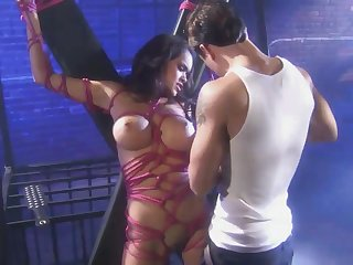 Daisy Marie Is Bound In A Pink Rope - BDSM sex