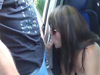 Dogging Car Sex Gangs with Slutwife Marion