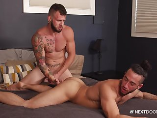Gay lovers fuck in crazy scenes and swallow a lot of sperm