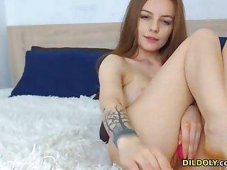 Hot redhead babe masturbating on webacm live on cam