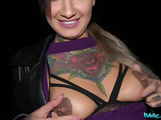 Tattooed babe Adel Asanty enjoys having sex in the middle of the night