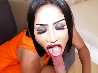Hard and rough bareback anal session with a hot ladyboy