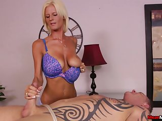 Awesome handjob from talented blonde masseuse Olivia Blu