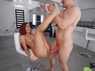 Vanna Bardot plays with cum after a round of hot athletic sex