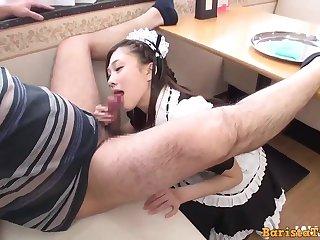 Horiguchi Maki blowing off in maid costume
