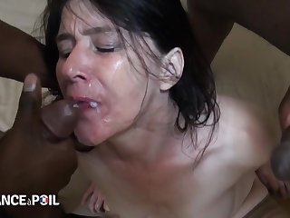 45 Yo Milf Angelina Interracial Sex