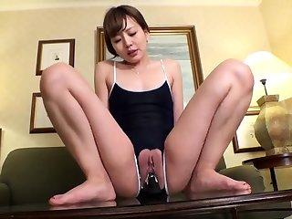 Yuzuru Masturbate Horny Asian Slutty Teen Enjoys Her To