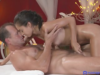 Older guy with a huge dick fucks stunning model shrima Malati