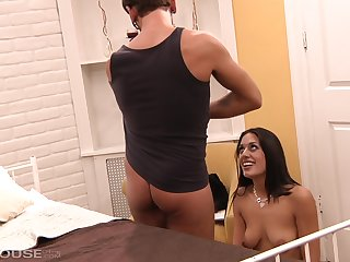 Lyla storm is a hot brunette with a sexy pussy