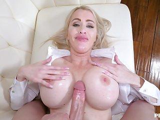 Busty cougar deals huge dick in mesmerizing XXX